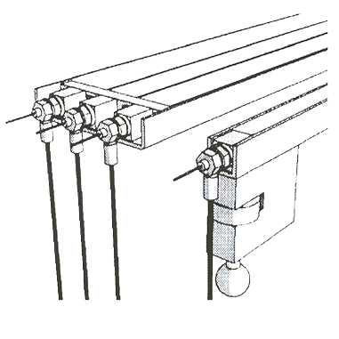 Réflecteurs de différentes largeurs