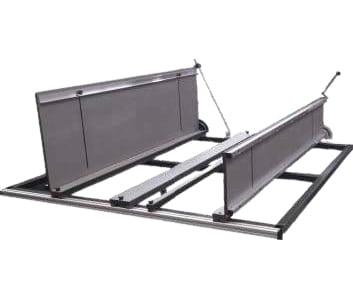 équipement de refroidissement avec un double réglage d'angle